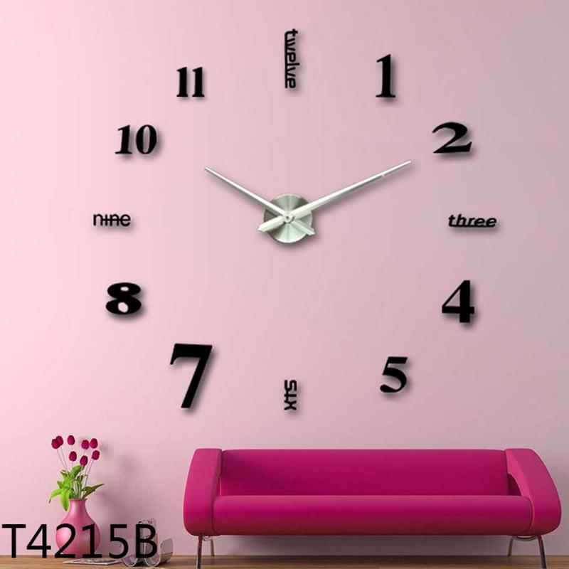 Hot 3d Large Wall Clock Mirror Wall Stickers Diy Clock Modern Design