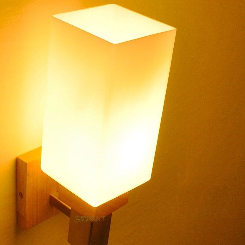 New American Modern Style Wall Lamp Bedside Lamps Wall Light for Home Decor 110V/220V E27 Holder Lighting american vintage 2 heads wall lamp indoor lighting bedside lamps double wall lights for home 110v 220v e27