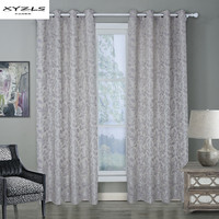 XYZLS Modern Leaves Pattern Blackout Curtain For Living Room Window Curtains For Bedroom Drape Top With Eyelet Cortinas 1Piece