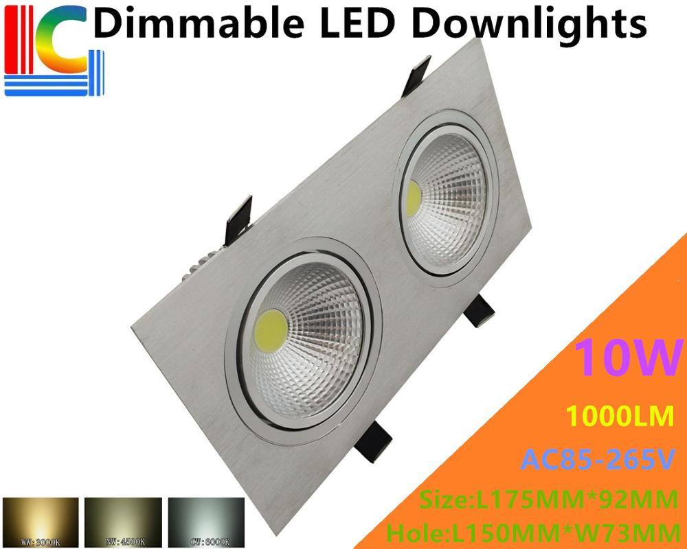 Затемнения COB 10 Вт прямоугольный Светильники потолочные светодиодные 85-265 В встраиваемые потолочный светильник ce Ультра-яркий домашний инт...