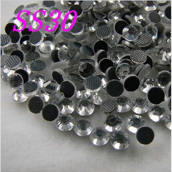 Big Promotions koupit 5 get 6 ag SS30 288ks / Bag Clear Crystal DMC HotFix FlatBack Kamínky štrasové, DIY Hot Fix krystaly kameny