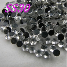 Big Promotions buy 5 get 6 ags  SS30 288pcs/Bag Clear Crystal DMC HotFix FlatBack Rhinestones strass,DIY Hot Fix crystals stones