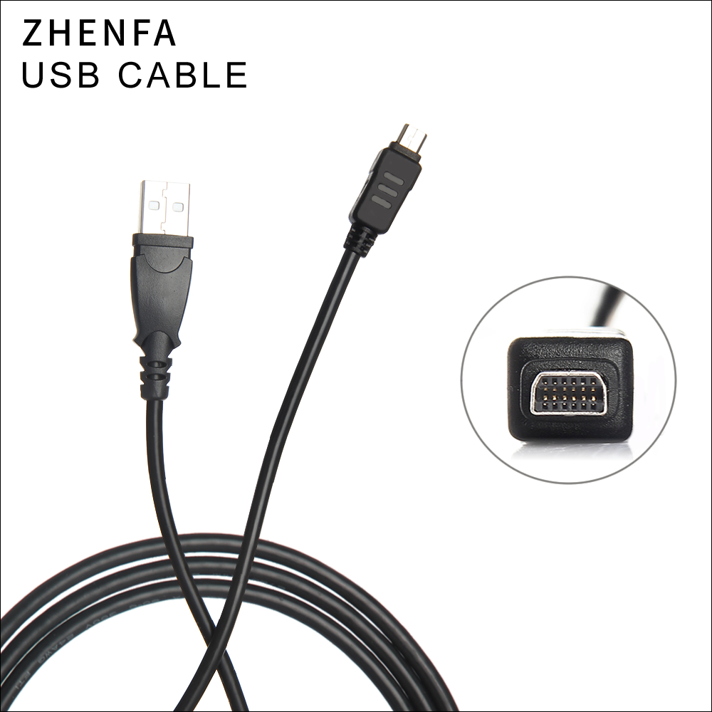 Zhenfa for Olympus Camera charger USB Data Cord Cable CB-USB5 CB-USB6 FE-4020 SZ10 SZ11 SZ12 SZ14 SZ16 SZ20 SZ30 SP800UZ XZ-1 cb usb5 cb usb6 12pin camera usb data cord cable for olympus sz 10 sz 11 sz 14 sz 20 sz 31mr om d e m5 tg 1 tough 3000 camera