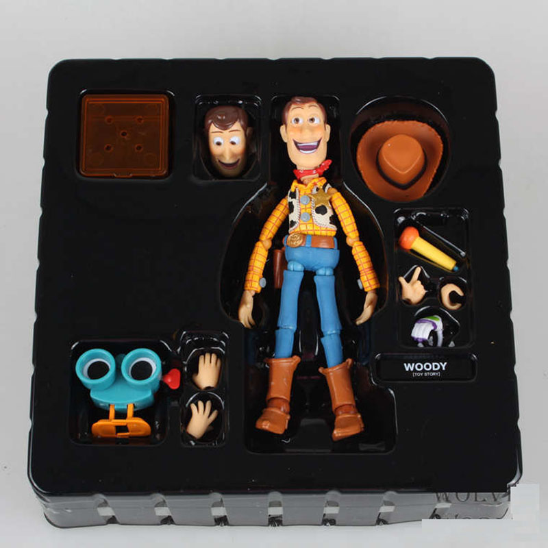 Ainme Toy Story Woody Series NO. 010 Sci-Fi Revoltech Special PVC Action Figure Collection doll Toys for Christmas gift brand new animals action figure toys mother wild horse 12cm length pvc figure model toy for gift collection kids school study