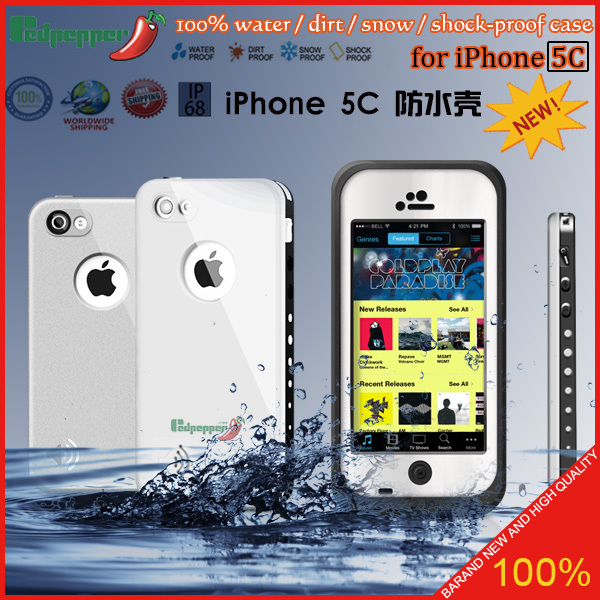 2014 New Arrival Life Waterproof Case For iphone 5c Waterproof case Retail packaging