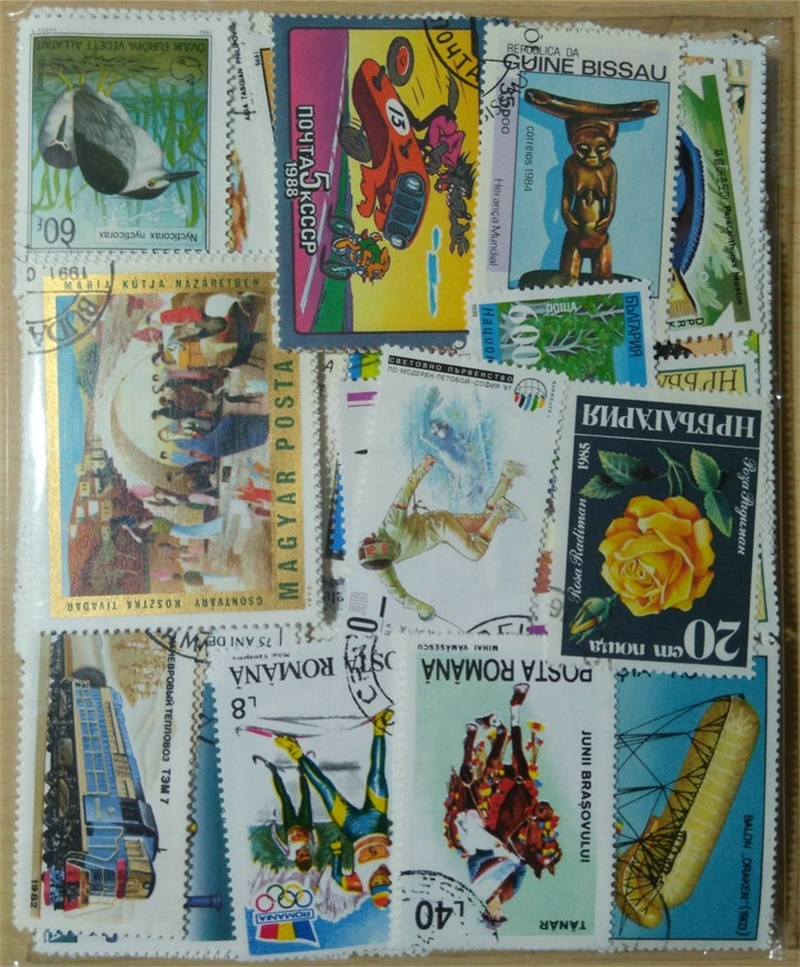 Image 2 - 500PCS Lot Good Condition Postage Stamps Collections From Many Countries With Post Mark Stamps Postal Used For Collection-in Stamps from Home & Garden