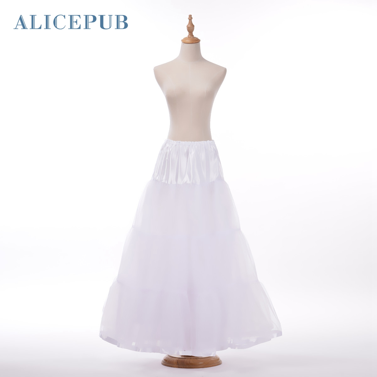 Plus Size A Line Petticoat Floor Length Rockabilly Bridal