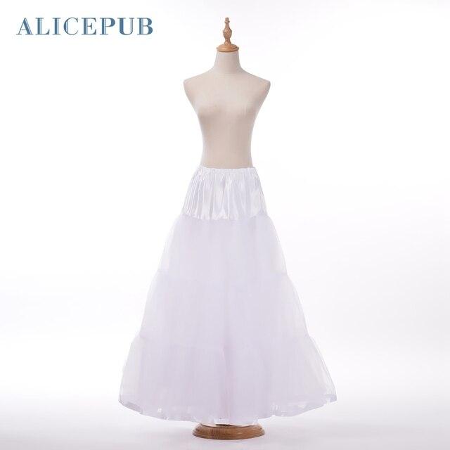 Plus Size A Line Petticoat Floor Length Rockabilly Bridal Crinoline