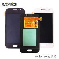 AMOLED For Samsung Galaxy J1 ACE J110 LCD Display Touch Screen Digitizer Super OLED Replacement Parts Black 4.3 White