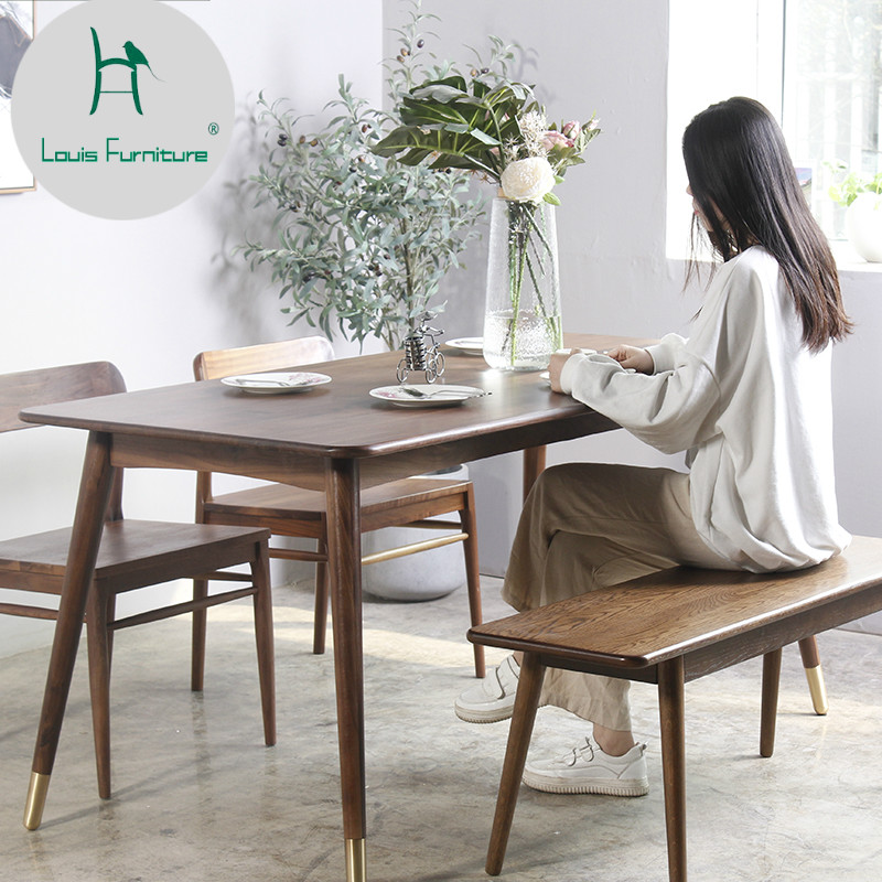 Dining Tables Com: Louis Fashion Dining Tables Black Walnut Table Modern