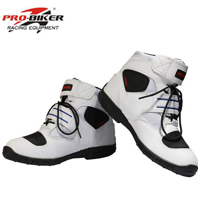 A005 woman s Motorcycle Pu leather Boots PRO biker breathable racing boot biker SPEED Motorboats motocross
