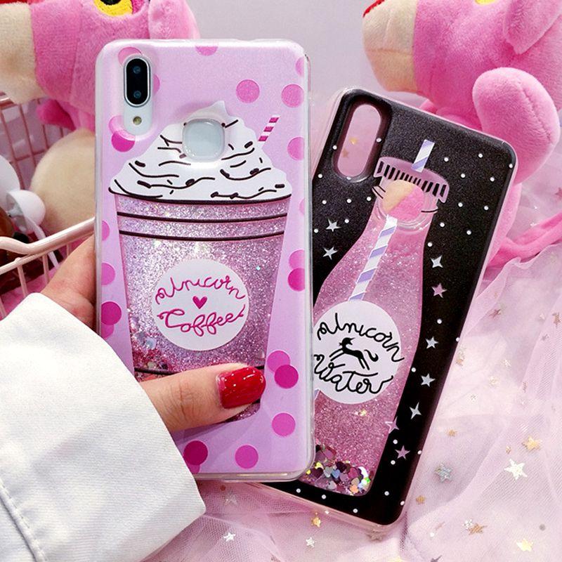 Ollivan Girls quicksand liquid glitter case for xiaomi redmi note 5 4x 4 x case silicone tpu cover for redmi note 6 Pro S2 funda 3