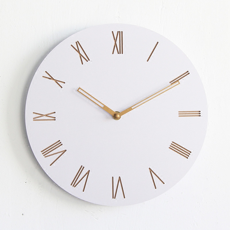 12Inch Round Wooden Digital Large Decorative Wall Clock Modern Design Hanging On The Wall Kitchen Watch Mural Home Decor