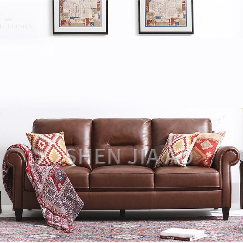 American Business Parlor Leather Sofa