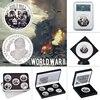 WR World War ii-Conjunto de monedas coleccionables de plata, soporte militar conmemorativo alemán, regalos originales para hombres, Dropshipping