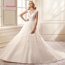 LEIYINXIANG Bride Dress 2019Wedding Ball Gown V-Neck