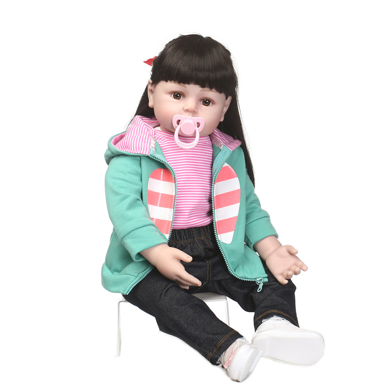 50cm Silicone reborn babies dolls bebe alive cloth body collectible Toddler can sit and lie  toy bonecas brinquedos baby alive50cm Silicone reborn babies dolls bebe alive cloth body collectible Toddler can sit and lie  toy bonecas brinquedos baby alive