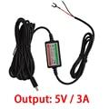 8-40 V Mini USB Smart Exclusivo Caixa De Alimentação De 5 V 3A Carregador de Fio Rígido Para DVR Do GPS Do Carro Prevenção De Descarga Da bateria