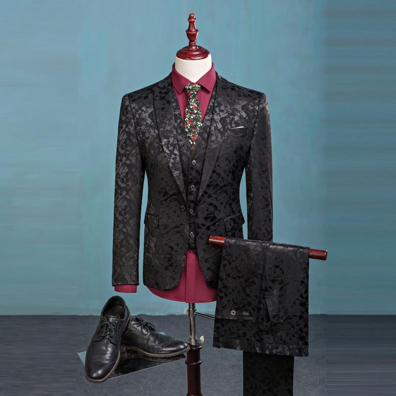 (Blazer+Pants+Vest) Fashion Men