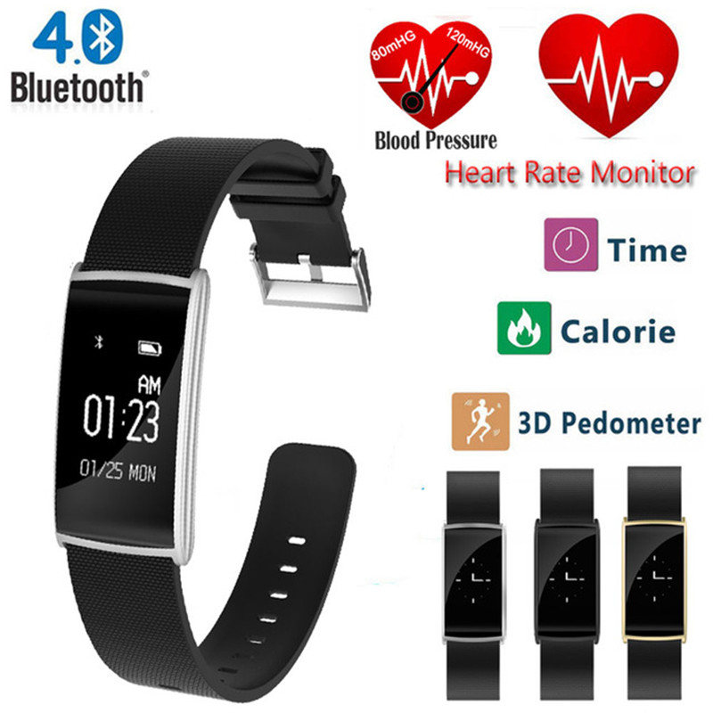 цена на Smart Band Bracelet 2018 New Heart Rate Monitor Smart Wristband Fitness Watch Tracker Blood Pressure Smartband for IOS Android