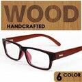 Ретро Дерево оптические очки кадров мужчины женщины оправы близорукости очки очки occhiali masculino feminina