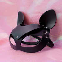 Sexy PU leather Eyewear Girls Lady Women Half Face Eye Mask for Night Dance Ball party BDSM,Adult Cosplay role game Halloween