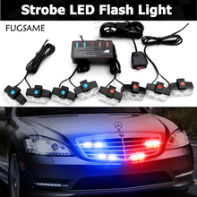 цена на FUGSAME Car 51035led motorcycle flash light Strobe  Warning EMS Police Truck  Flashing Firemen Lights Red Blue White Green Amber