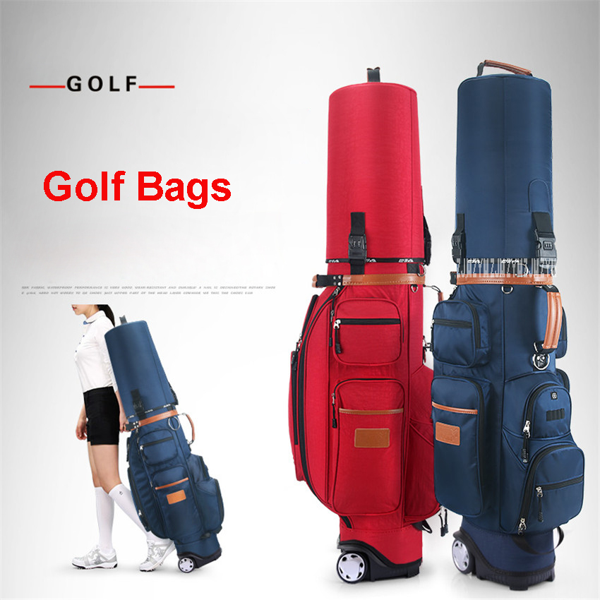 QB038  standard multifunctional tug ball bag with a lock password Free golf bag air thermostatic bag nylon golf aviation bag simulation mini golf course display toy set with golf club ball flag