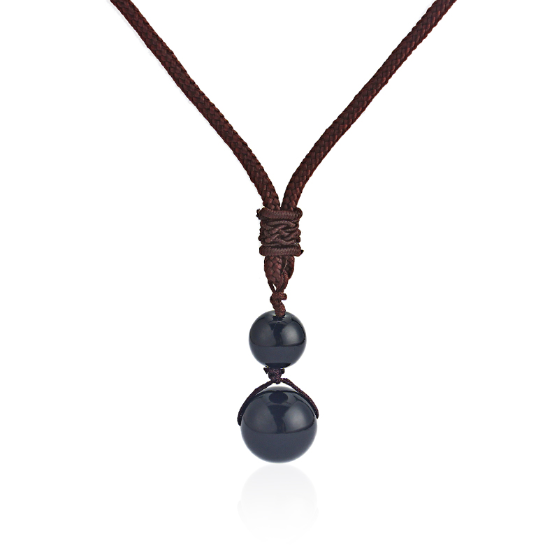 1pcs Nature Rainbow Eye Obsidian Charms Beads Pendant Necklace For Fashion Women&Men Necklace Jewelry Bijoux