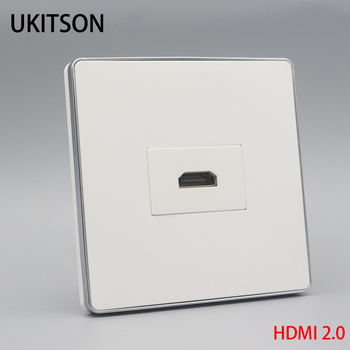 New HDMI 2.0 Wall Panel Backside Female To Plug Socket For 4K 3D