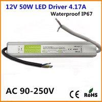 DC 12V 24V 50W IP67 Waterproof LED Driver Transformer LED Power Supply For LED Garden Landscape