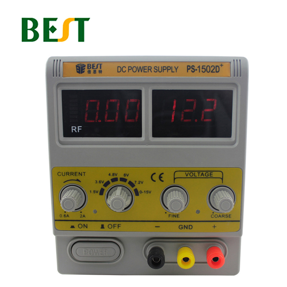BEST <font><b>1502D</b></font>+ DC 15V/2A Regulated Power Supply Maintenance Of Power Supply Digital Controlled Power Supply Rf Signal Detection image