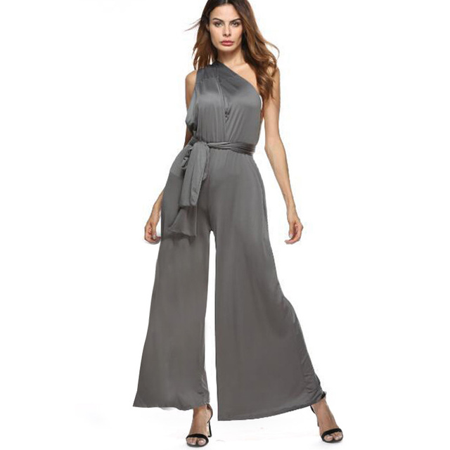 9f204d3ed4 QIUXUAN Sexy Bodysuit Bandage One Piece Pants Women Convertible Multiway  Wrap Playsuit Bridesmaid Formal Cross Evening Jumpsuit