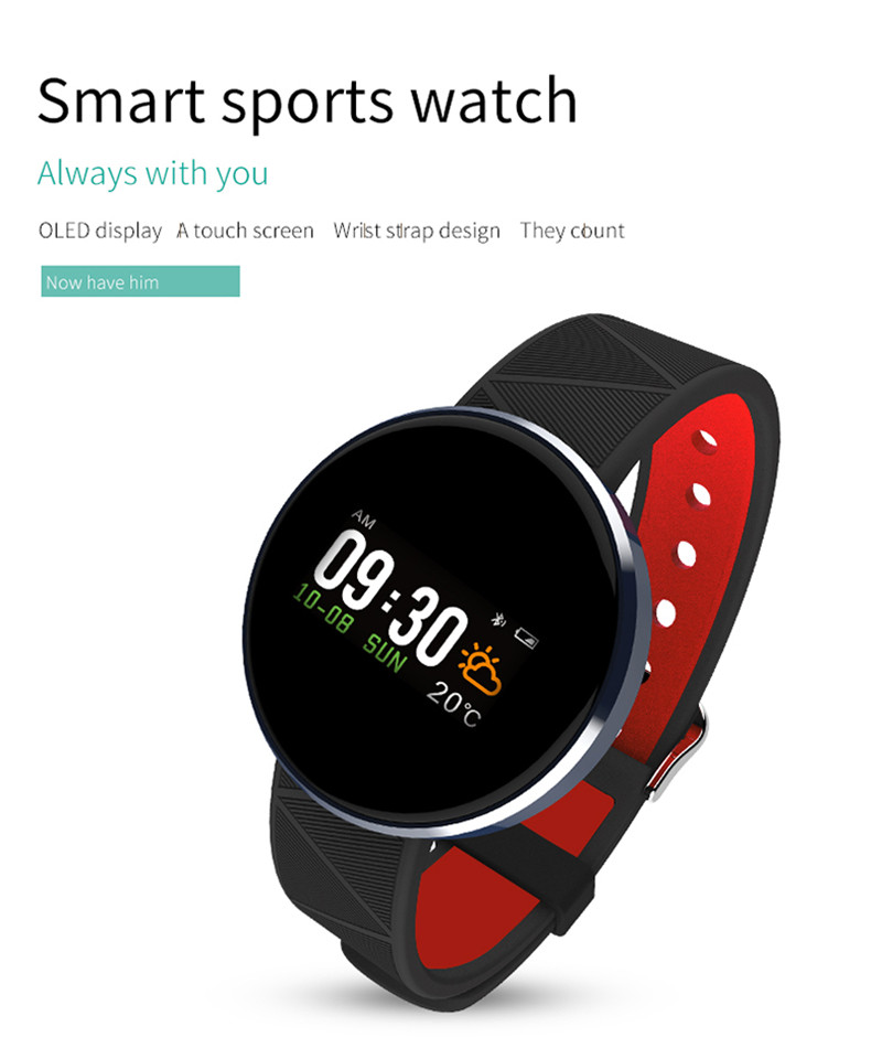 OLED Blood Press Smart Band Watch 2018 Woman Man Samrt Bracelet Support Heart Rate Pedometer Calories Monitor Message APP Sync g6 tactical smartwatch