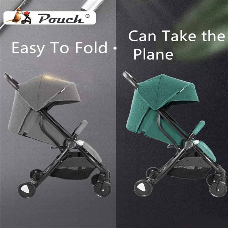 One-handed ultra-light folding baby stroller can sit and recline can be isolated UV can boarding cart