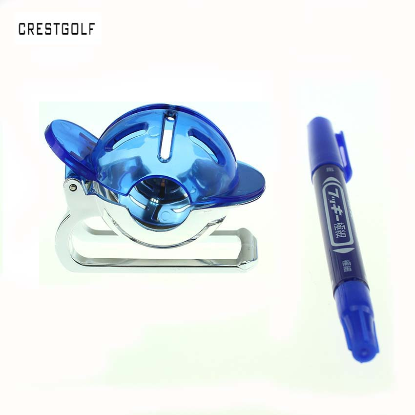 CRESTGOLF Golf Alignment Tool Golf Ball Liner Marker Golf Practice  Equipment Trainer Aid with a Marker Pen-in Golf Training Aids from Sports &
