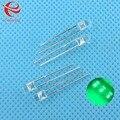 3mm Verde-Esmeralda Rodada LED Light Emitting Diode Transparente Ultra Brilhante Do Grânulo Da Lâmpada Plug-in Kit DIY praticar MERGULHO 100 pçs/lote