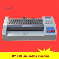 110V/220V QY-320 Laminating Machine Home Office A3 Photo A4 Metal Case Laminator 600W 320mm 420mm/min 4-6min 75-200mic Hot Sale
