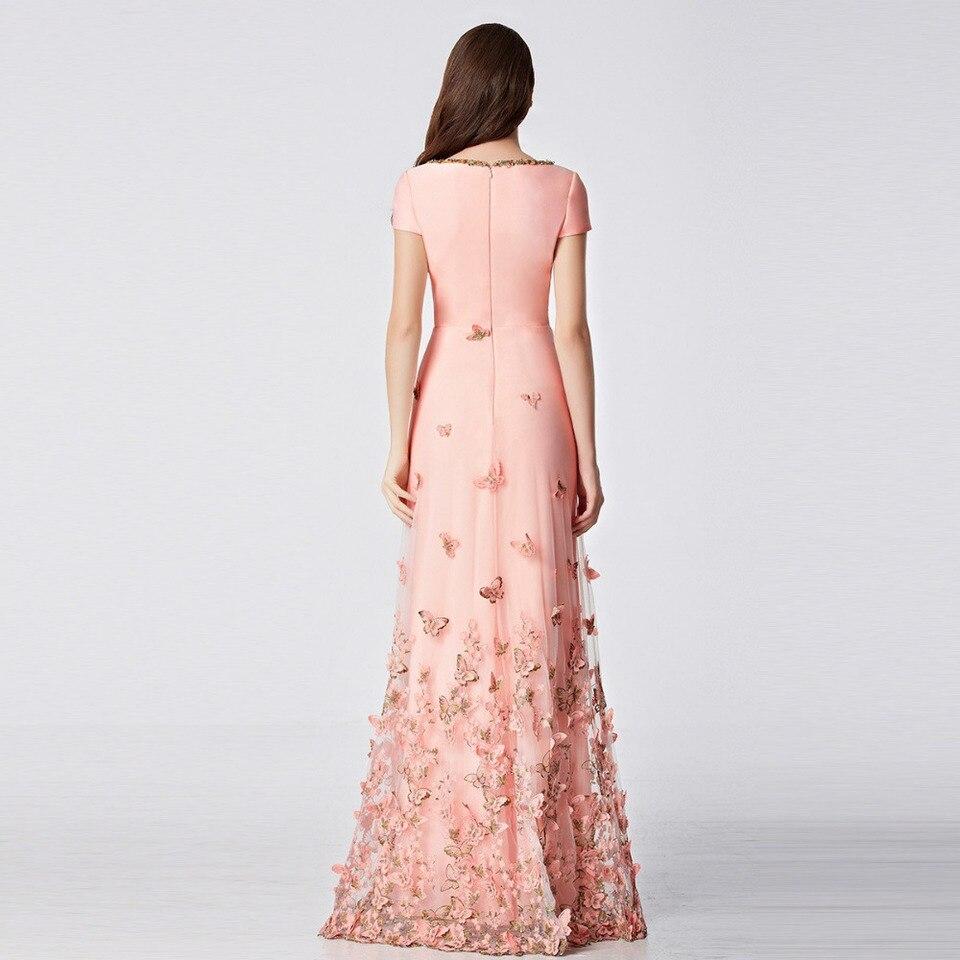 31135 newest vintage long prom dresses lace abendkleider wedding dinner  dress formal designer prom gowns butterfly details