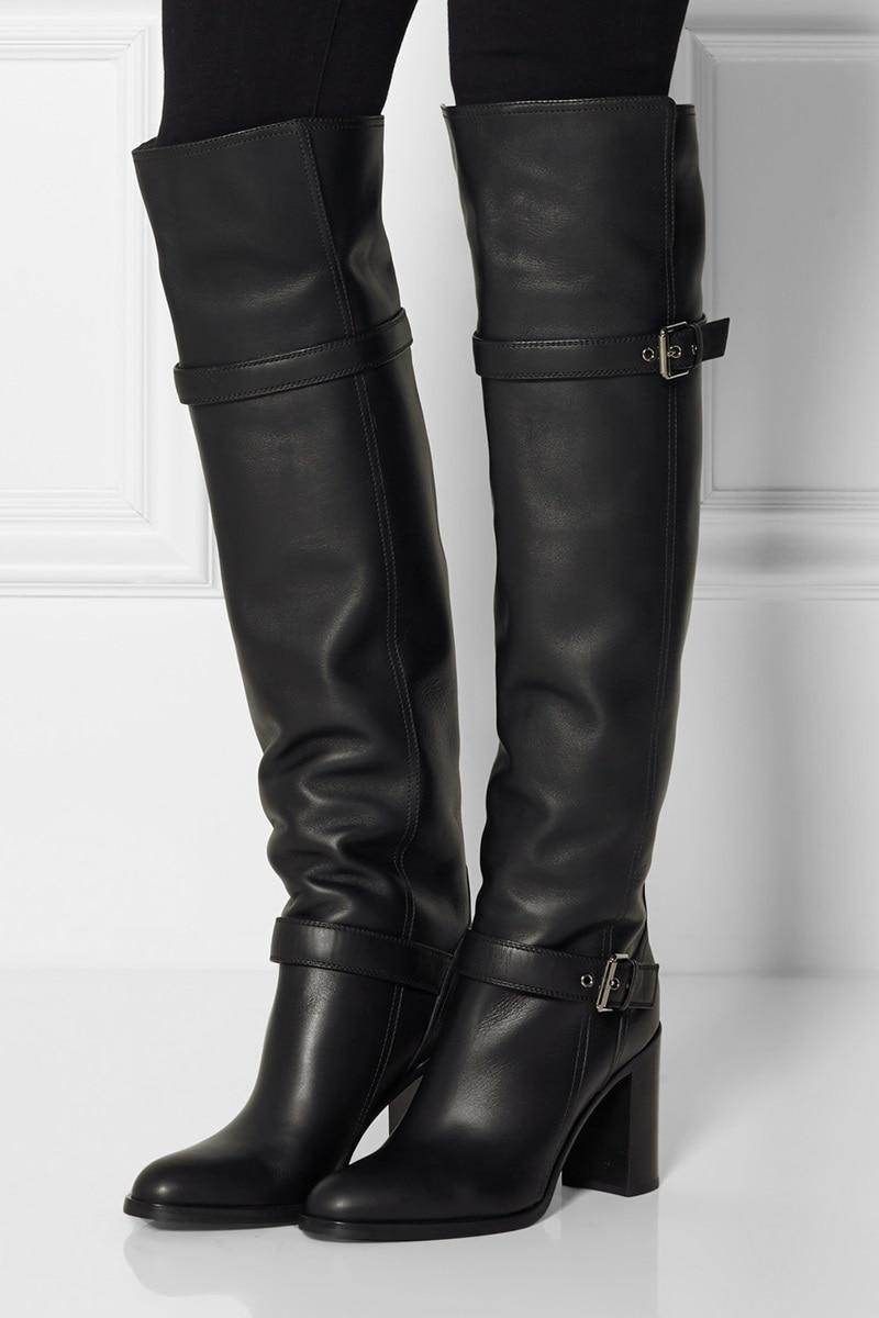 botas altas mujer negras