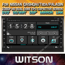 WITSON CAR DVD GPS for NISSAN QASHQAI/Tiida/PALADIN car audio player with bluetooth car stereo navigation gps support DVR/Wifi