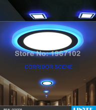 New 6W 9W 16W 24W led Ceiling Recessed panel Light lamp home decoration round square Led Downlight Blue Withe Colors