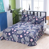 1 piece 100% cotton high grade Environmental active printed bed skirt flat sheet sheets can be customized size
