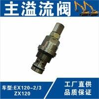 Main relief valve of Hitachi hydraulic pump EX120 2 3 ZX120 excavator main gun relief valve of hydraulic pump digger