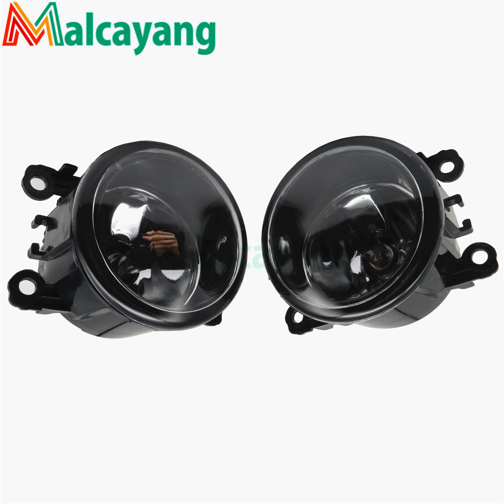 For renault Logan 2004-2015 Saloon Estate Front bumper fog lamps Original Fog Lights Halogen car styling 35500-63J02 2 pcs set car styling 6000k ccc 12v 55w drl fog lamps lighting for renault megane 2 estate 2002 2015 35500 63j02