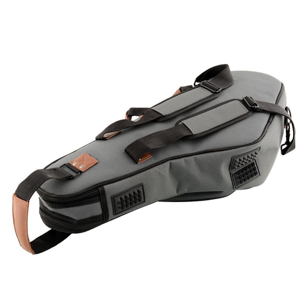 Portable Soft Luxurious E Alto Sax Saxophone Travel Gig Bag Case Cover Gray Waterproof Durable alto mick dual shoe bag black