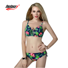 sexy swimsuit for women tankinis set black blue and rose red color swimwear plus size все цены