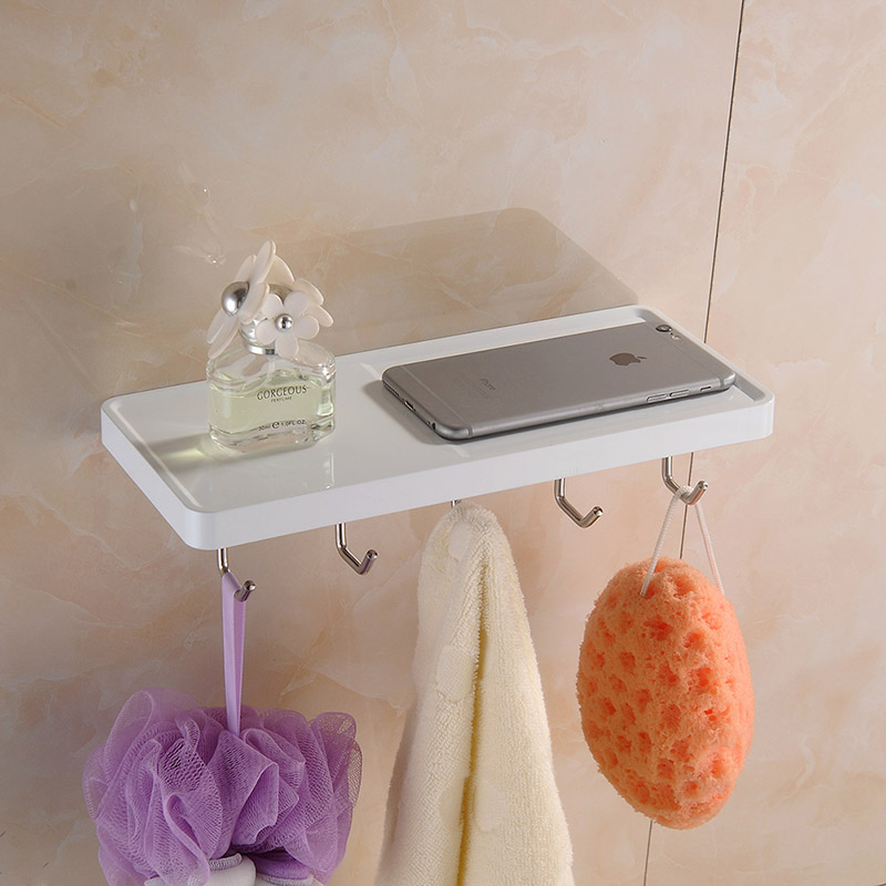 Aothpher Multi Functional Wall Mounted Stainless Steel Towel Shelf ...