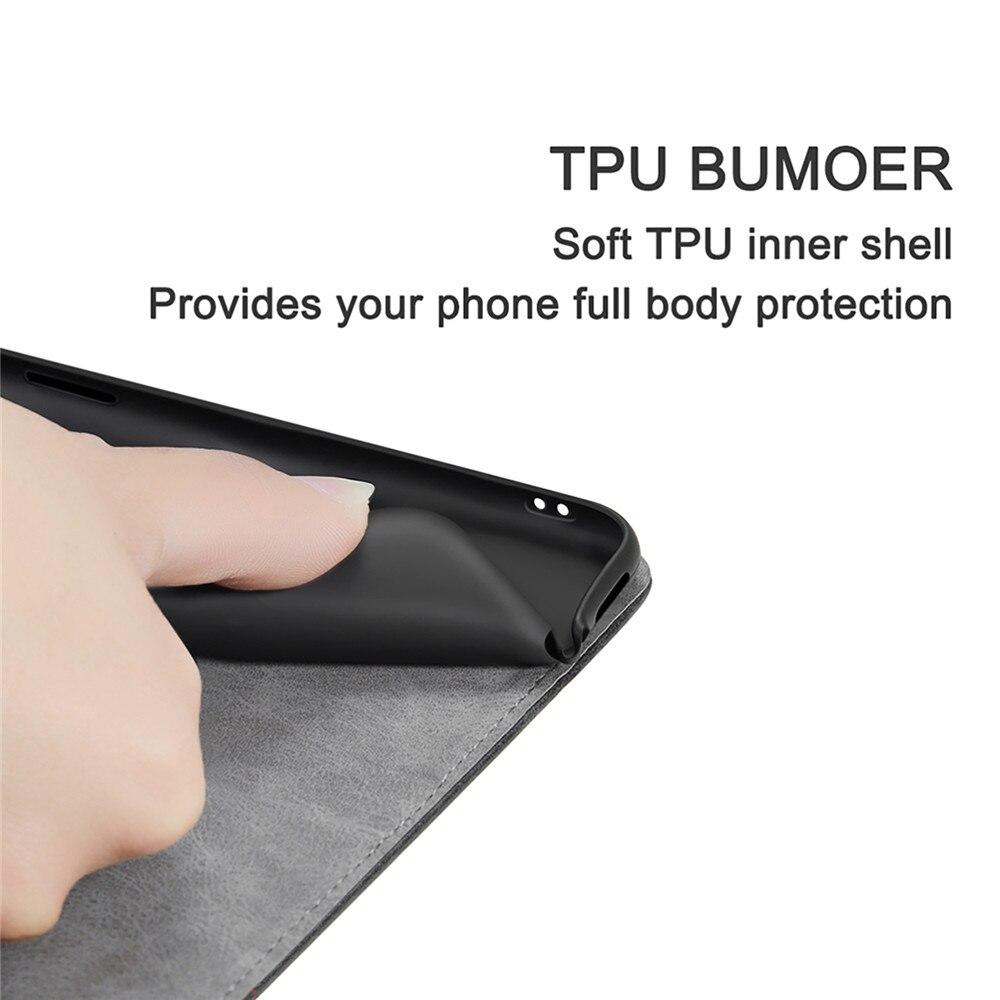 HTB1ICVAdW5s3KVjSZFNq6AD3FXaK Luxury PU Leather Wallet Cover Case For iPhone 11 Pro X XS Max XR 8 Plus 7 6 6S 5 5S SE Flip Book Business iPhone11 Coque Funda Capa Retro Magnetic Phone Case