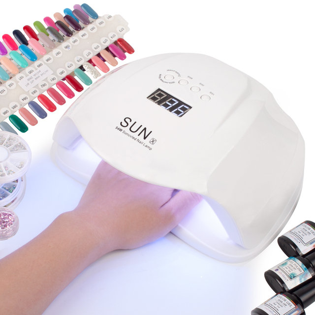 DCOVOR SUN X 54W Nail Dryer UV LED Lamp LCD Display 36 LEDs Dryer Lamp for Curing Gel Polish Auto Sensing Nail Manicure Tool 40W